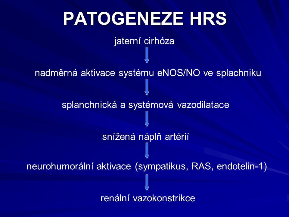 PATOGENEZE HRS jaterní cirhóza