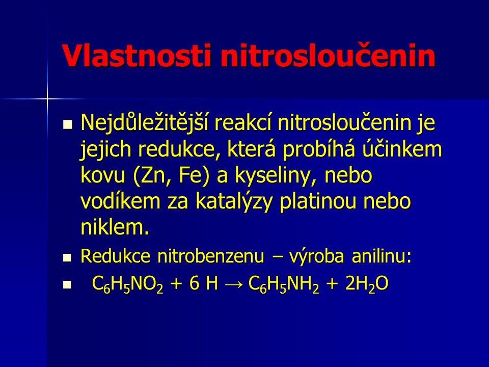 Vlastnosti nitrosloučenin