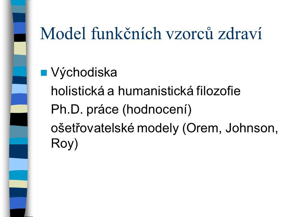 Model funkčních vzorců zdraví