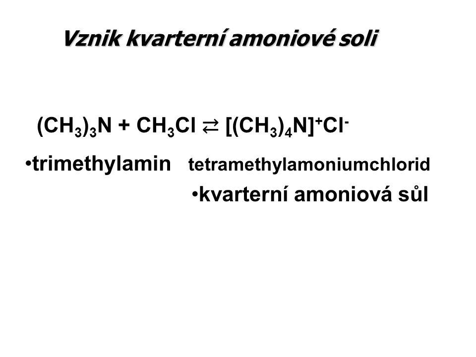 Vznik kvarterní amoniové soli