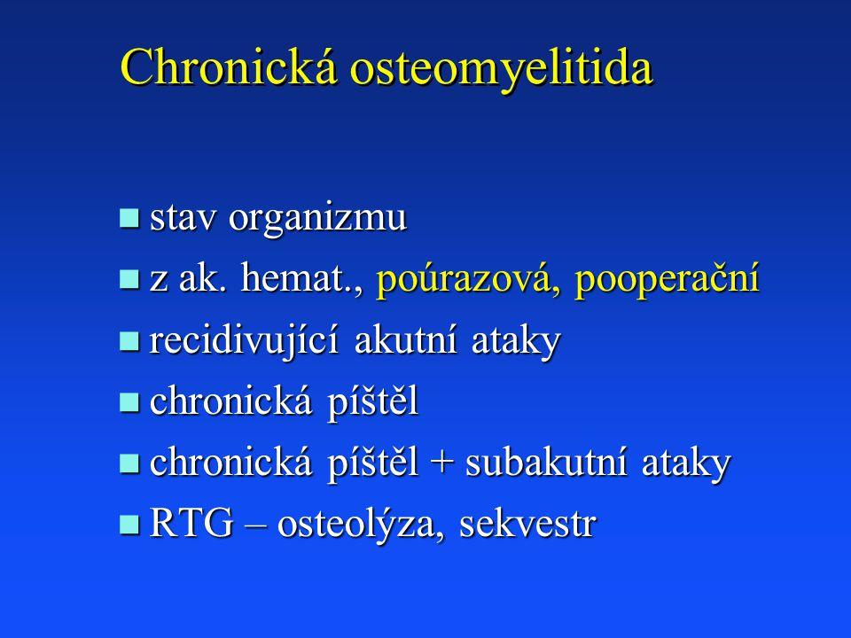 Chronická osteomyelitida