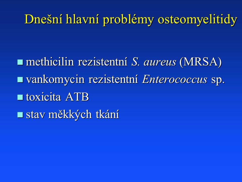 Dnešní hlavní problémy osteomyelitidy