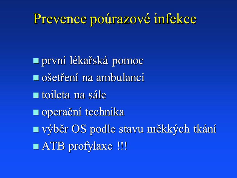 Prevence poúrazové infekce
