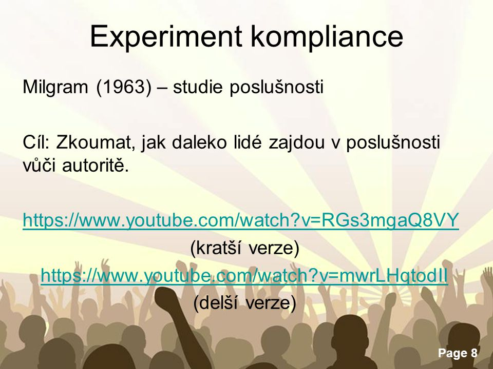 Experiment kompliance