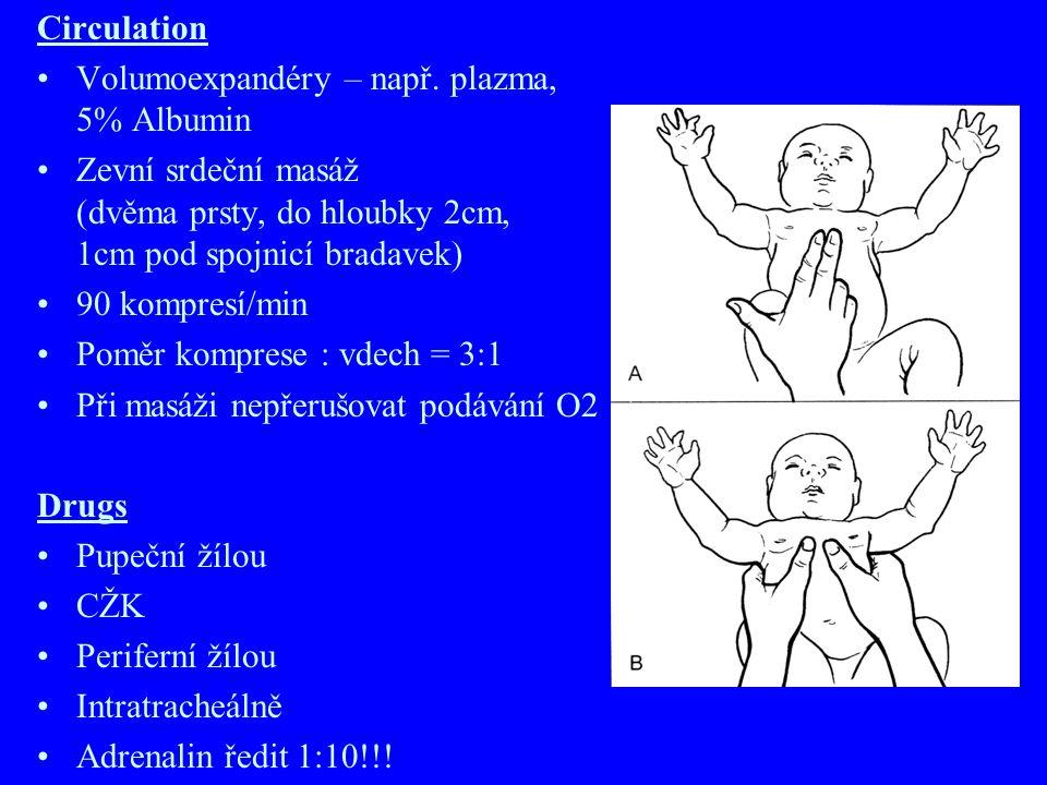 Circulation Volumoexpandéry – např. plazma, 5% Albumin.