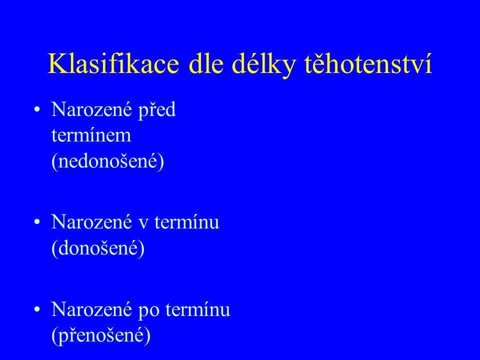 Klasifikace dle délky těhotenství