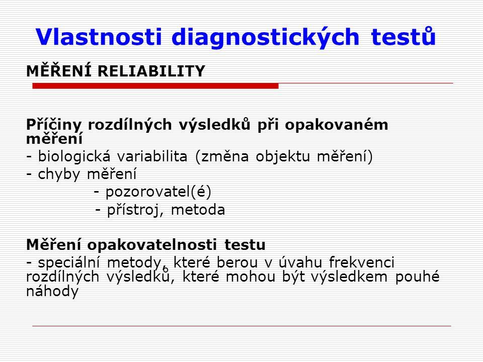 Vlastnosti diagnostických testů