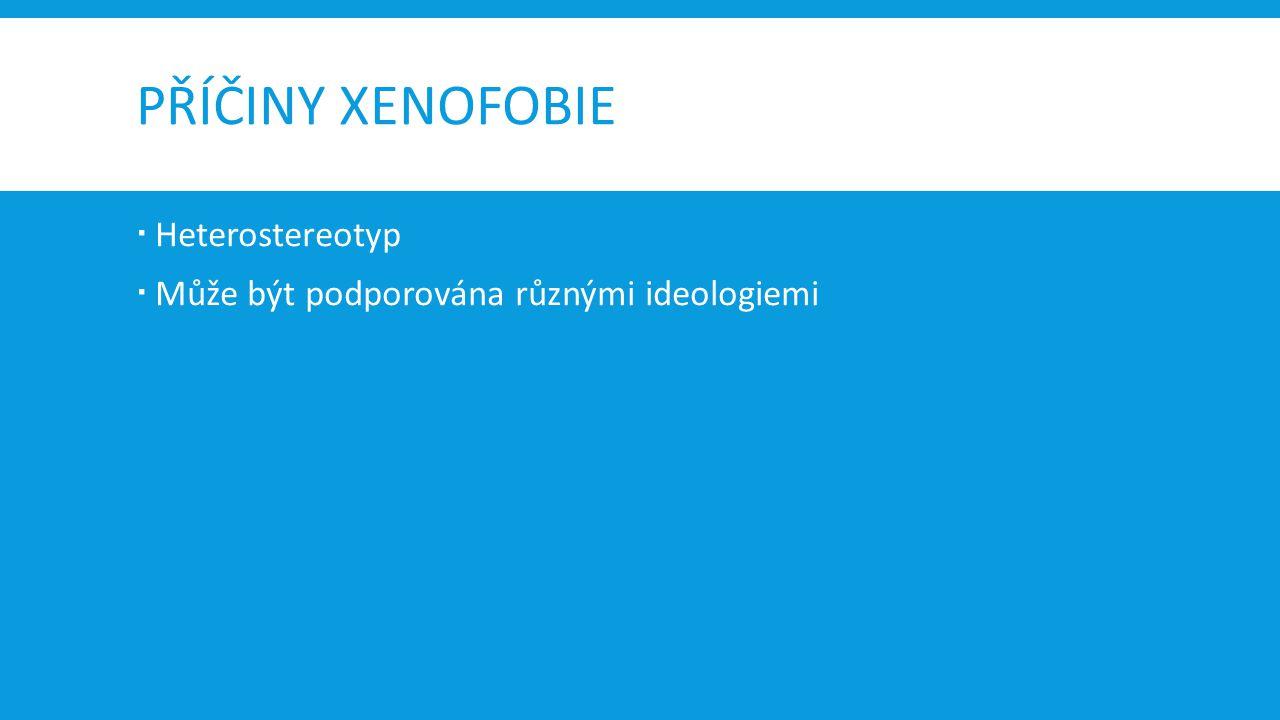 PŘÍČINY XENOFOBIE Heterostereotyp