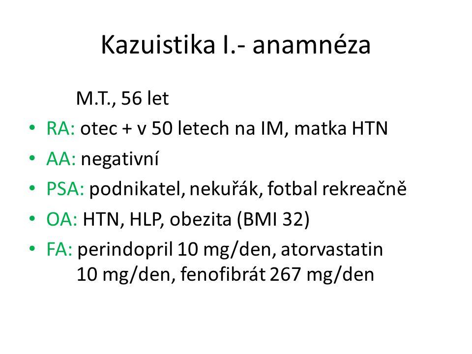 Kazuistika I.- anamnéza