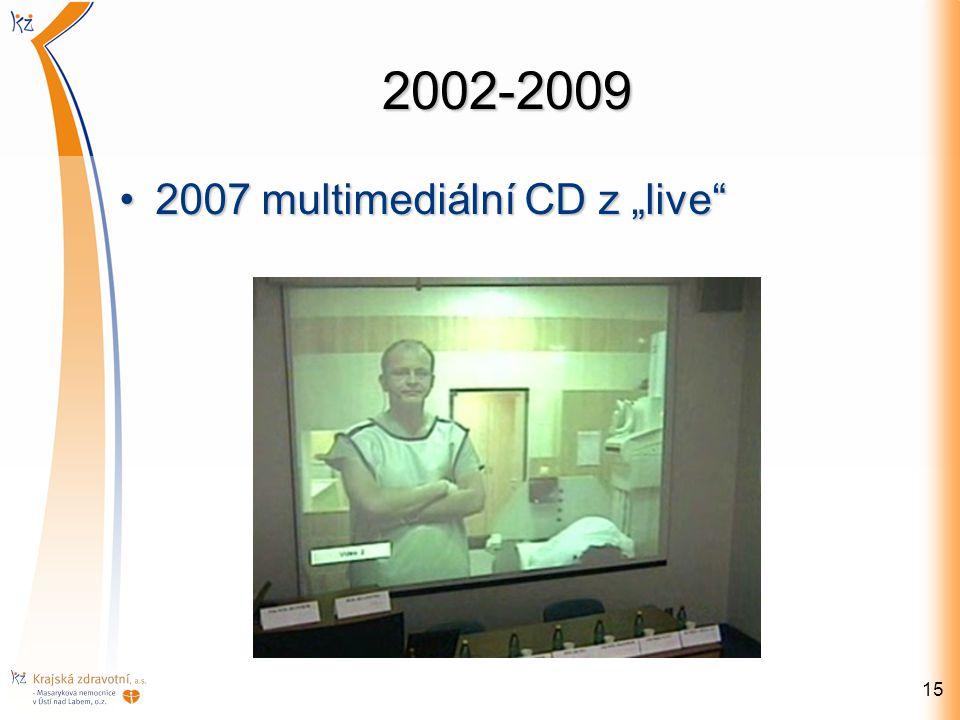 """2002-2009 2007 multimediální CD z """"live"""
