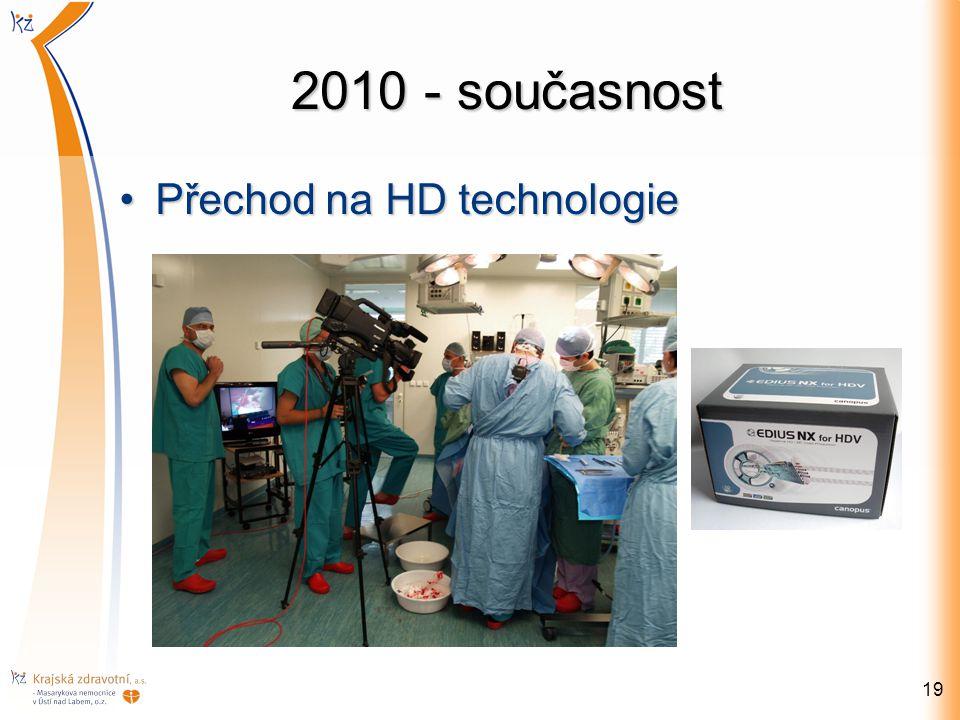 2010 - současnost Přechod na HD technologie