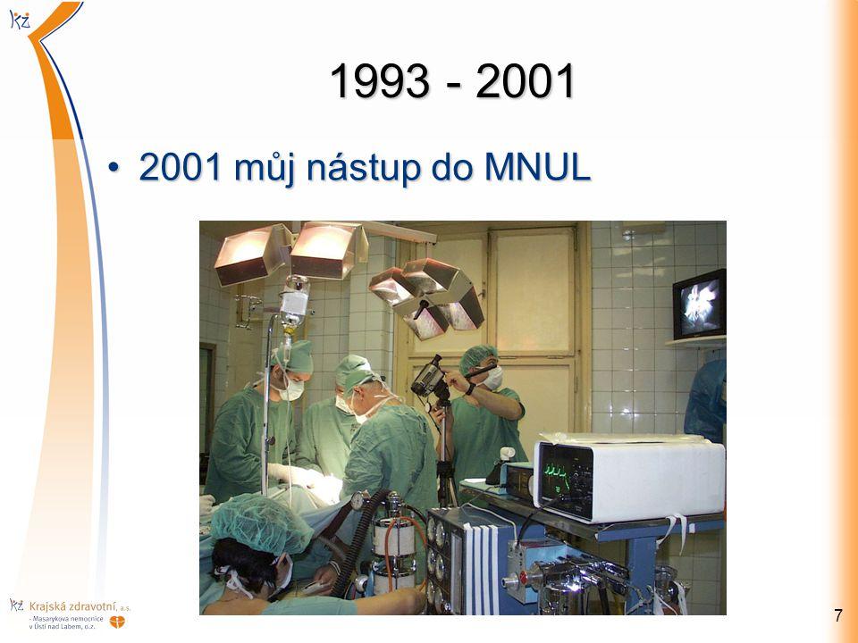 1993 - 2001 2001 můj nástup do MNUL