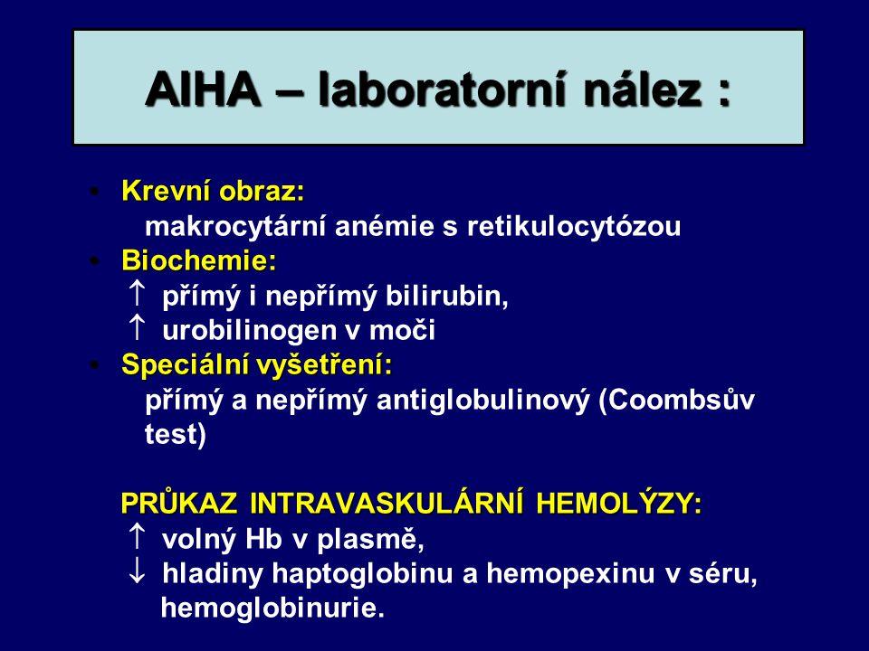 AIHA – laboratorní nález :
