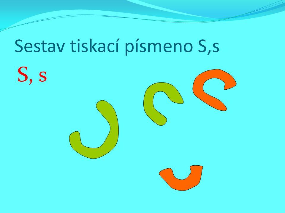 Sestav tiskací písmeno S,s
