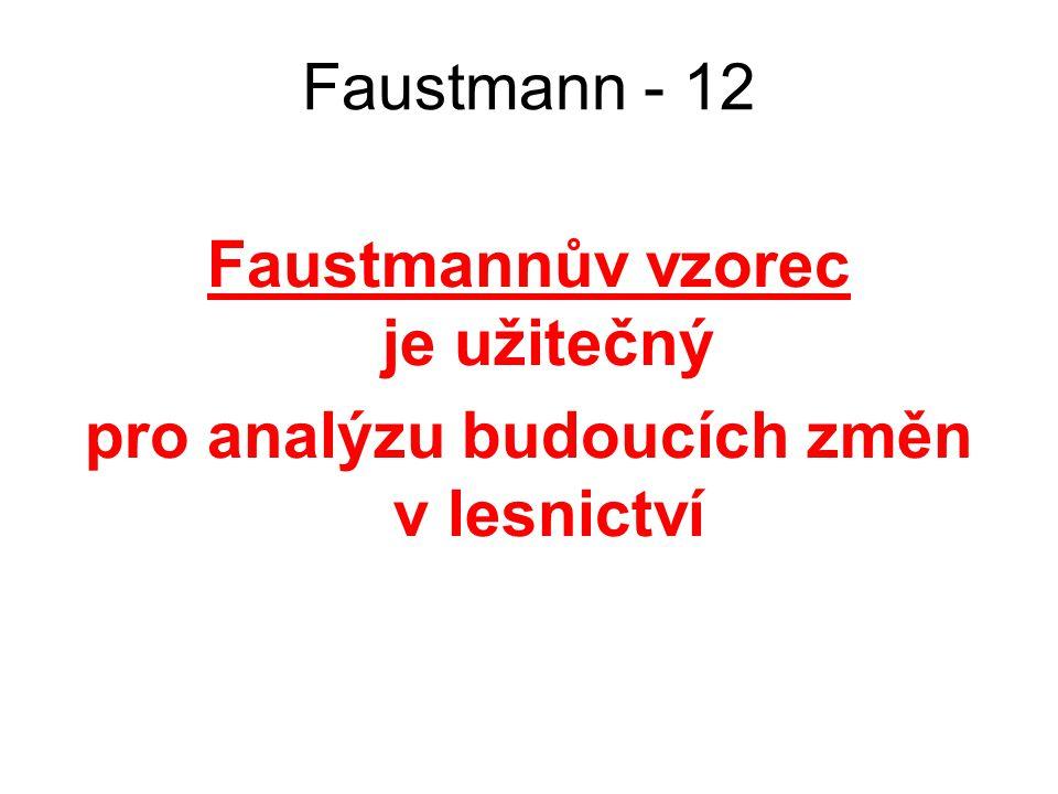 Faustmannův vzorec je užitečný pro analýzu budoucích změn v lesnictví