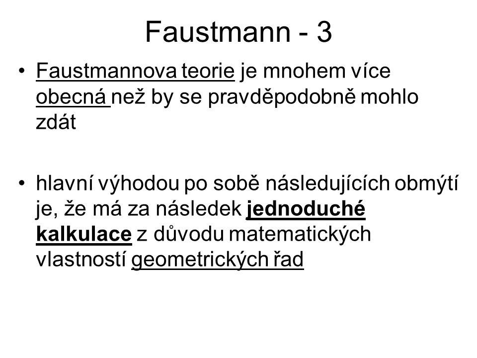 Faustmann - 3 Faustmannova teorie je mnohem více obecná než by se pravděpodobně mohlo zdát.
