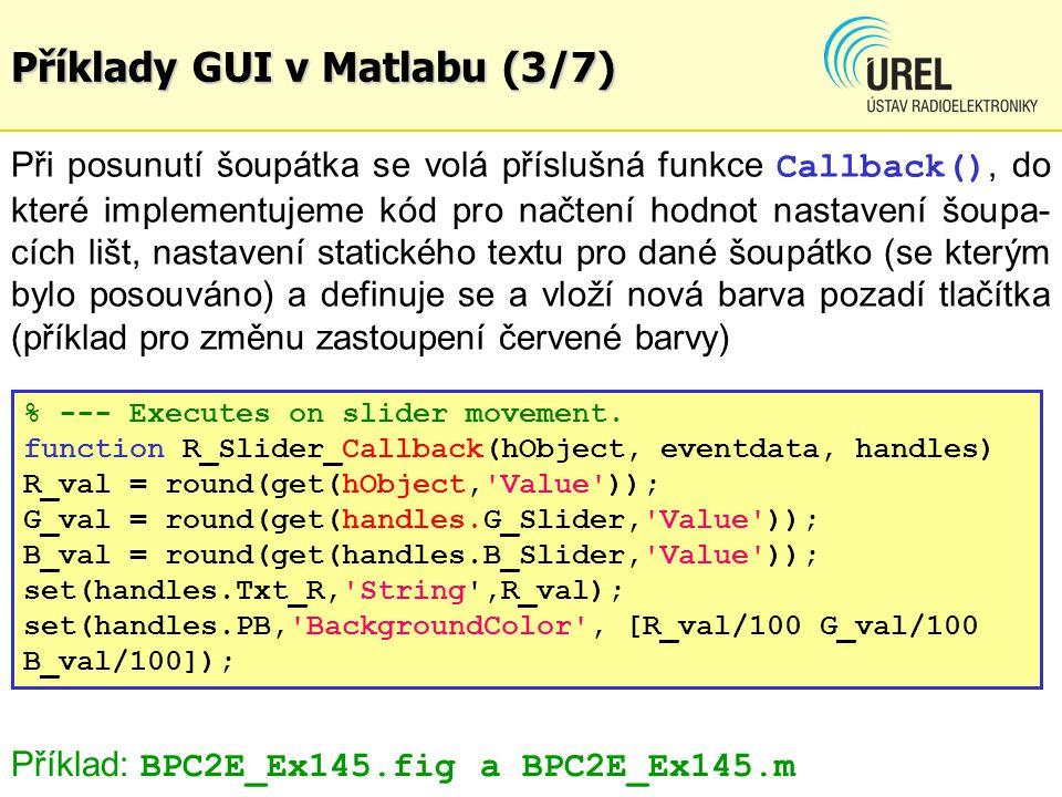 Příklady GUI v Matlabu (3/7)
