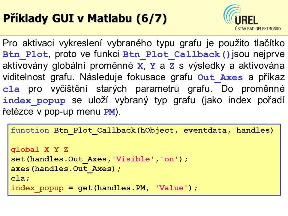 Příklady GUI v Matlabu (6/7)