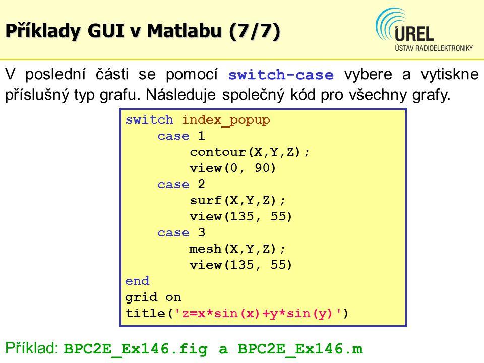 Příklady GUI v Matlabu (7/7)