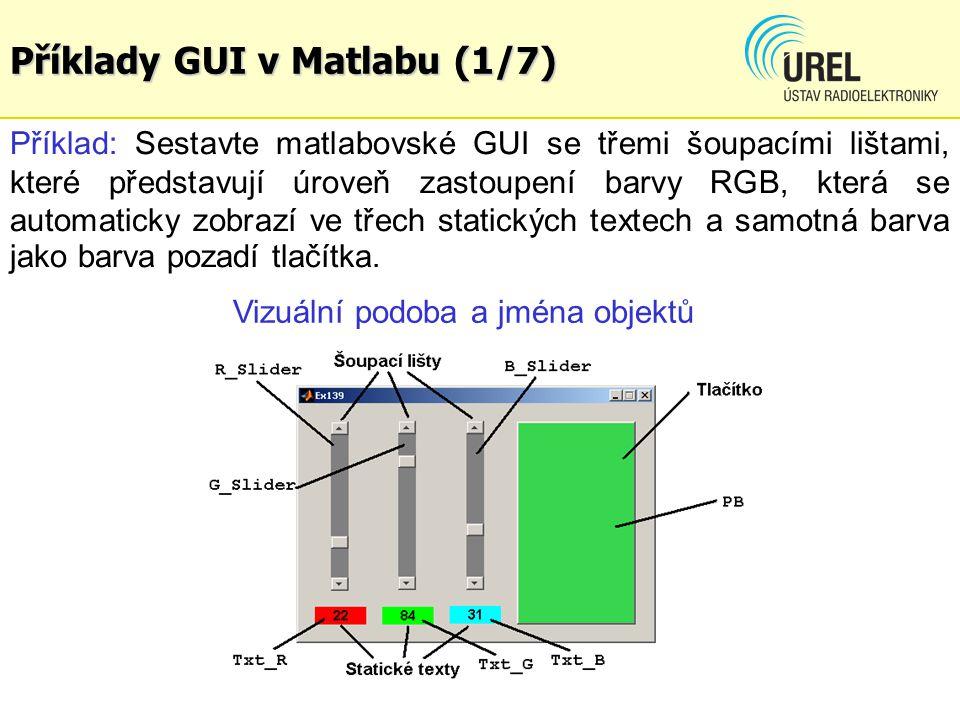 Příklady GUI v Matlabu (1/7)