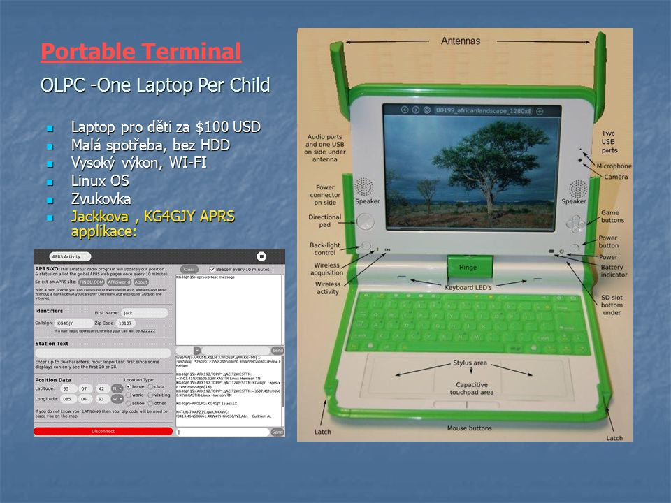 Portable Terminal OLPC -One Laptop Per Child
