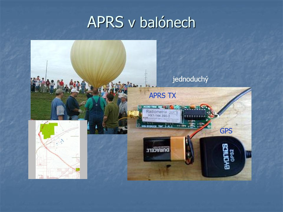 APRS v balónech jednoduchý APRS TX GPS