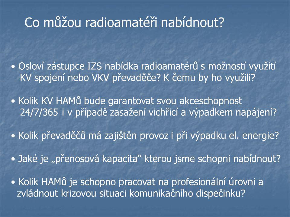 Co můžou radioamatéři nabídnout