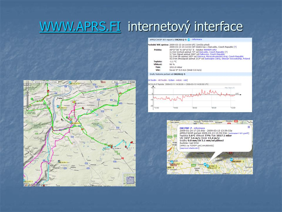 WWW.APRS.FI internetový interface