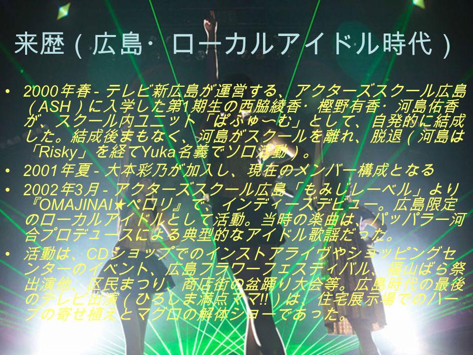 来歴(広島・ローカルアイドル時代)