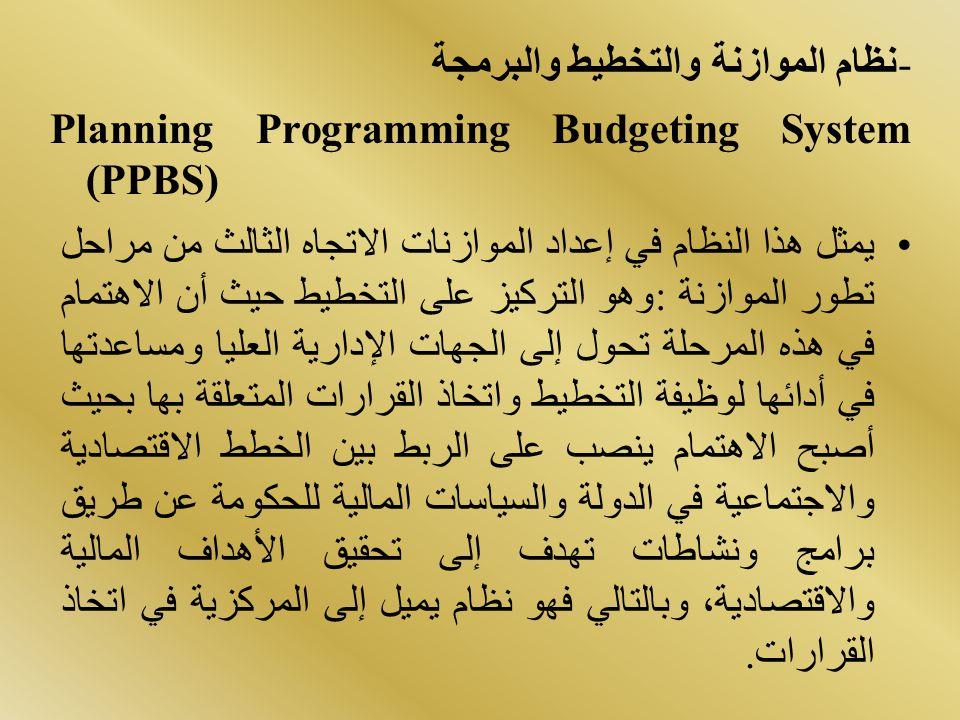 -نظام الموازنة والتخطيط والبرمجة