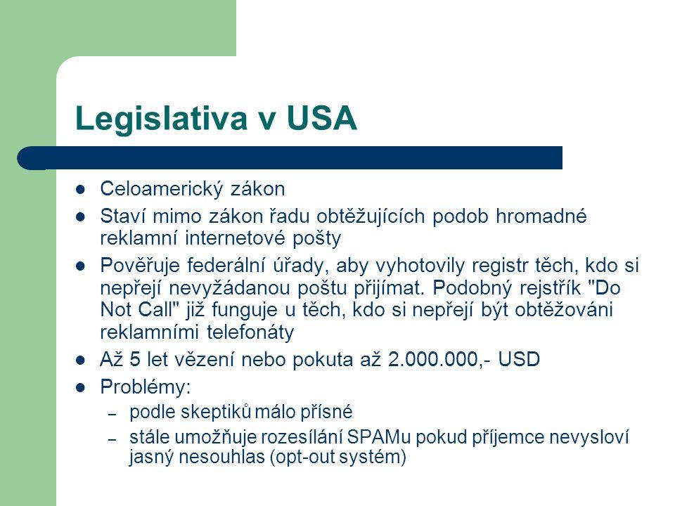 Legislativa v USA Celoamerický zákon