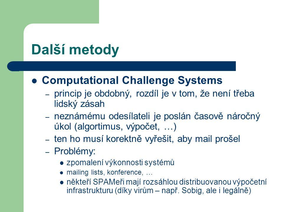 Další metody Computational Challenge Systems