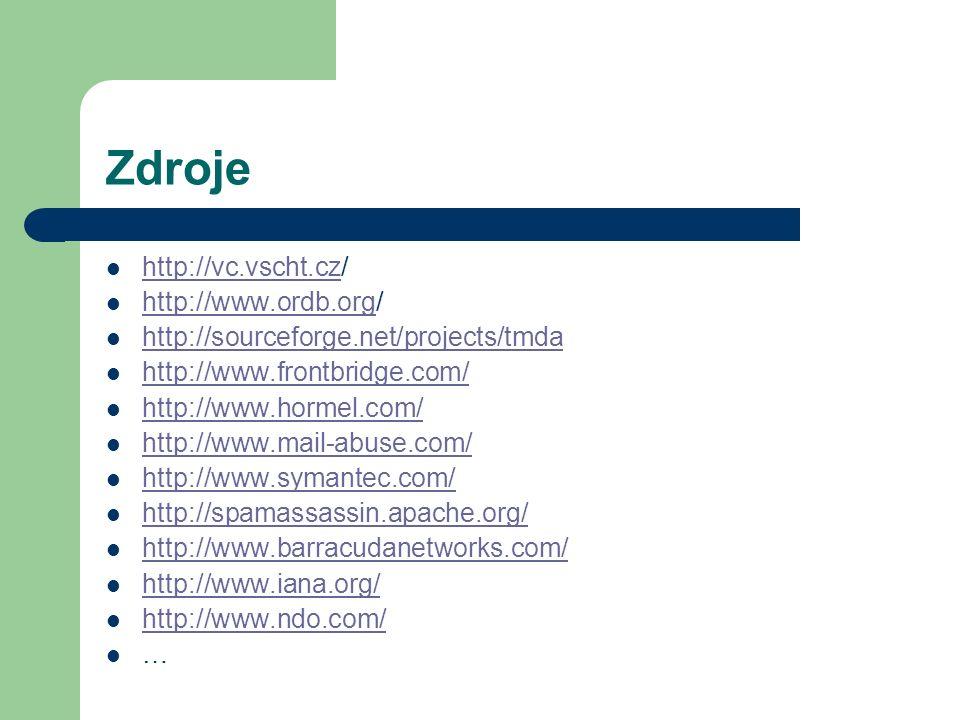Zdroje http://vc.vscht.cz/ http://www.ordb.org/