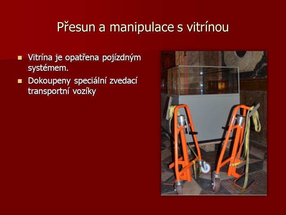 Přesun a manipulace s vitrínou