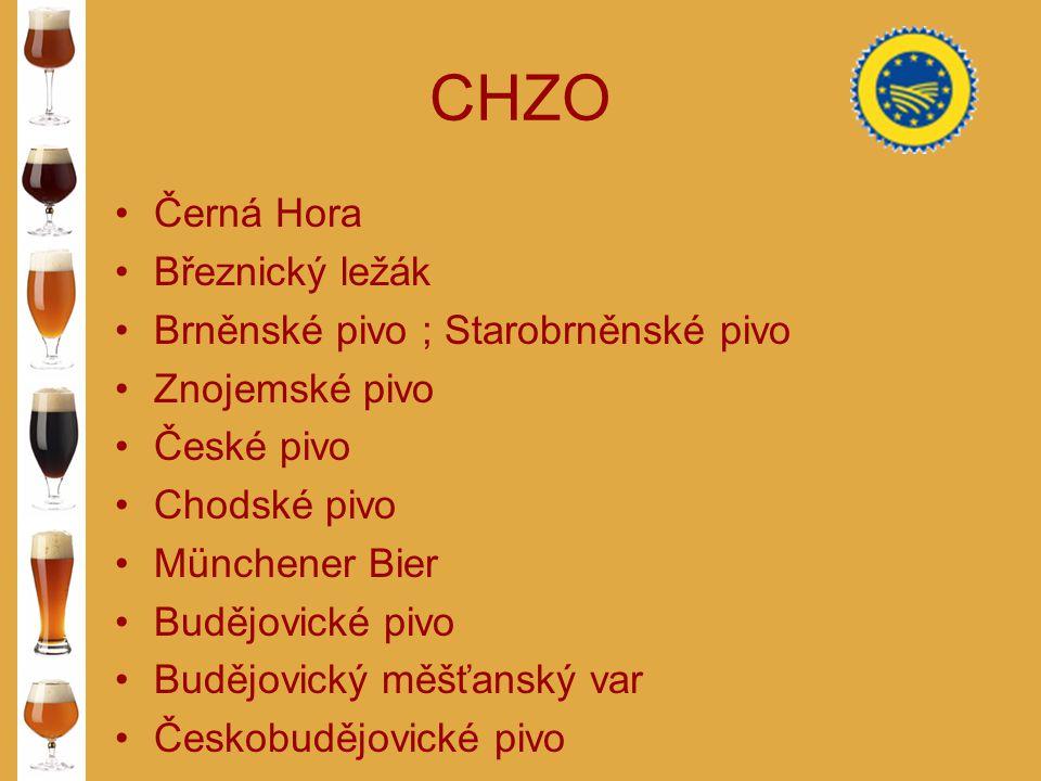 CHZO Černá Hora Březnický ležák Brněnské pivo ; Starobrněnské pivo