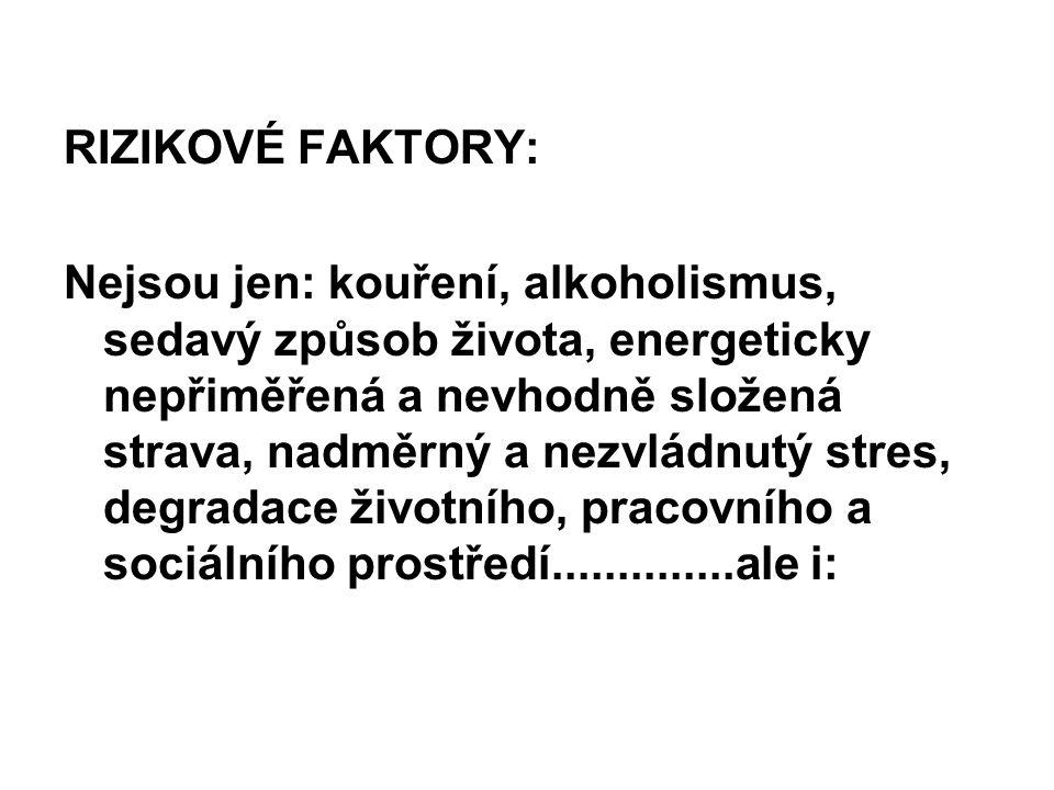 RIZIKOVÉ FAKTORY: