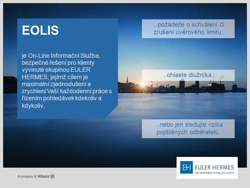 EOLIS ..požádejte o schválení či zrušení úvěrového limitu..
