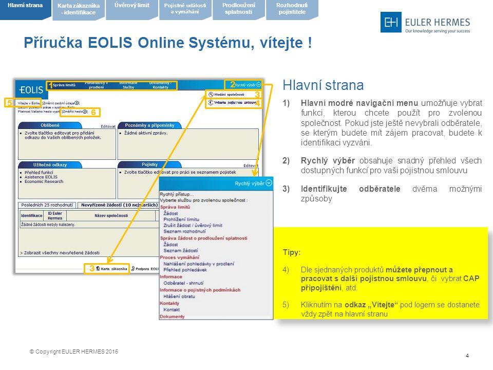 Příručka EOLIS Online Systému, vítejte !