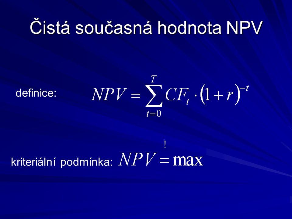 Čistá současná hodnota NPV