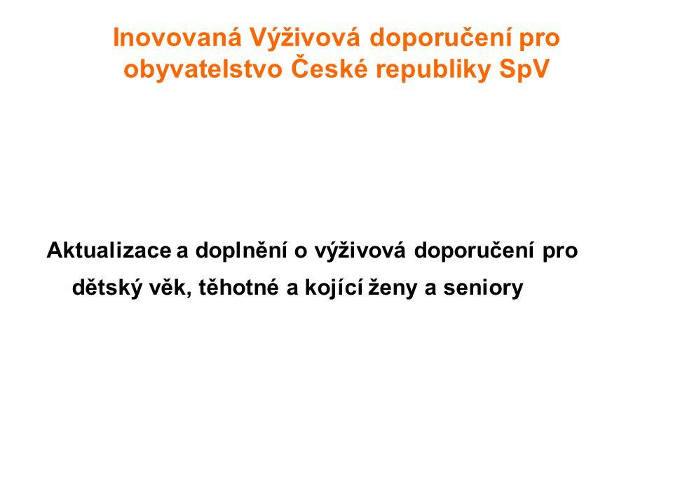 Inovovaná Výživová doporučení pro obyvatelstvo České republiky SpV