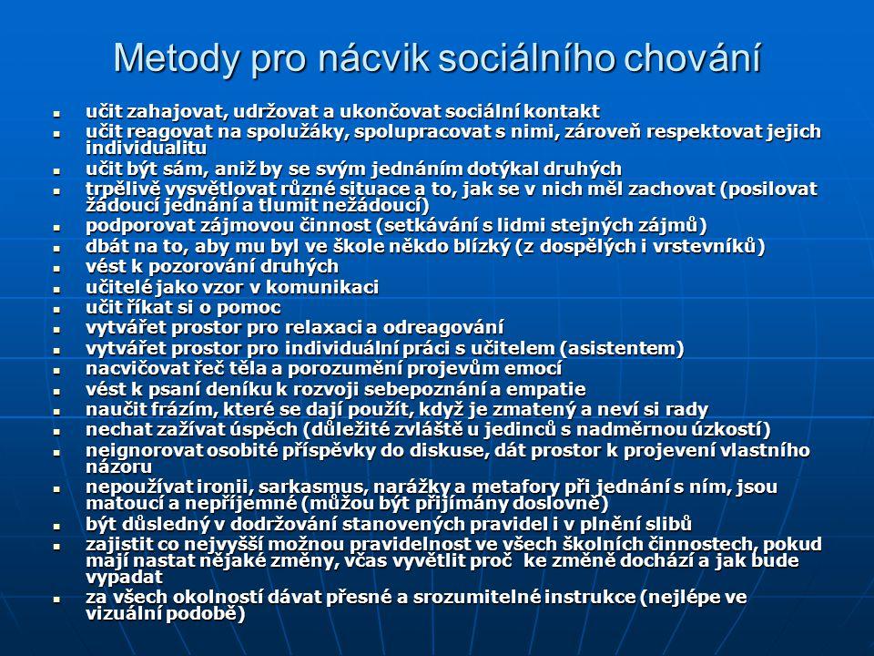 Metody pro nácvik sociálního chování