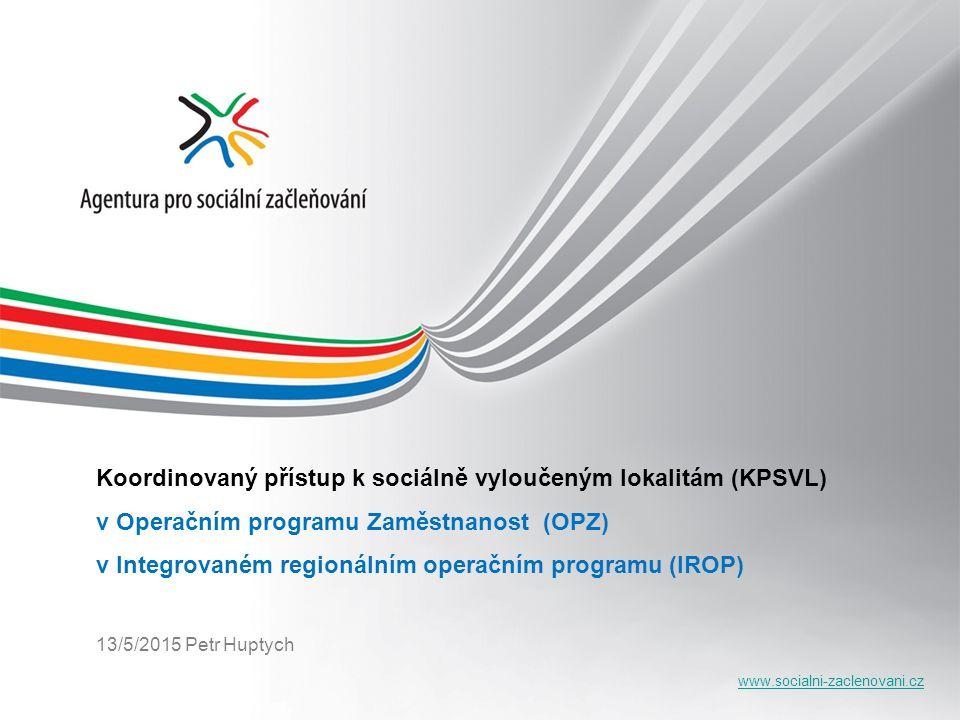 Koordinovaný přístup k sociálně vyloučeným lokalitám (KPSVL)