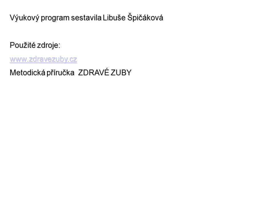 Výukový program sestavila Libuše Špičáková