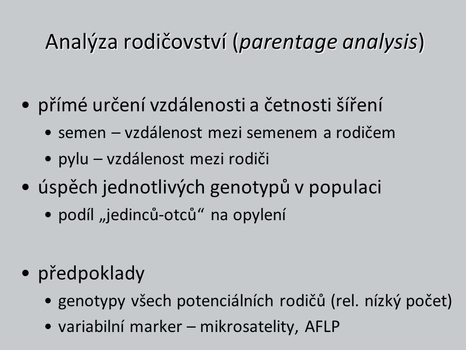 Analýza rodičovství (parentage analysis)