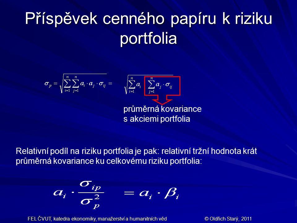 Příspěvek cenného papíru k riziku portfolia
