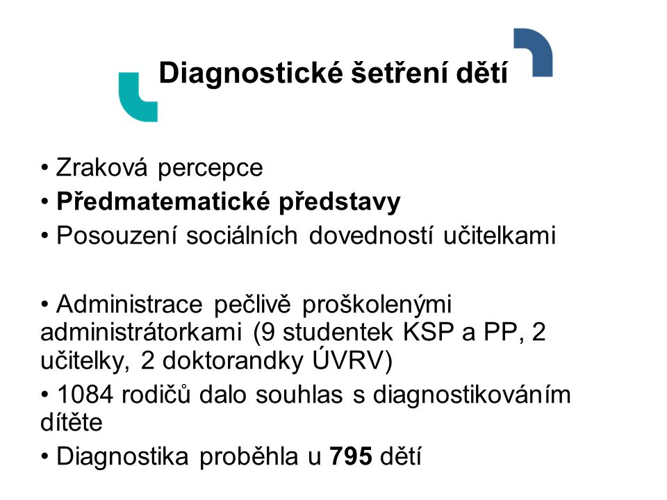 Diagnostické šetření dětí