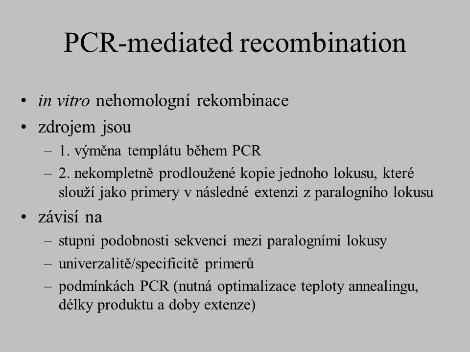 PCR-mediated recombination