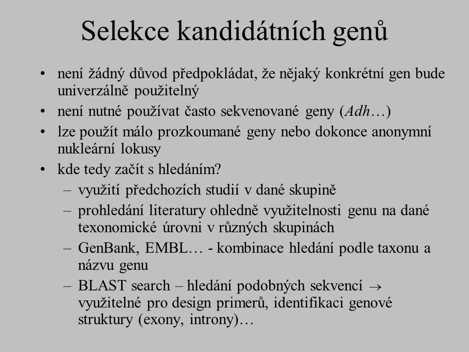 Selekce kandidátních genů