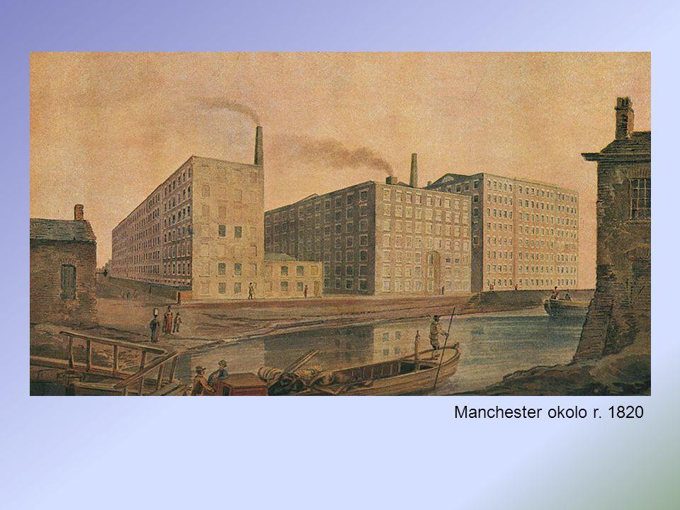 Manchester okolo r. 1820
