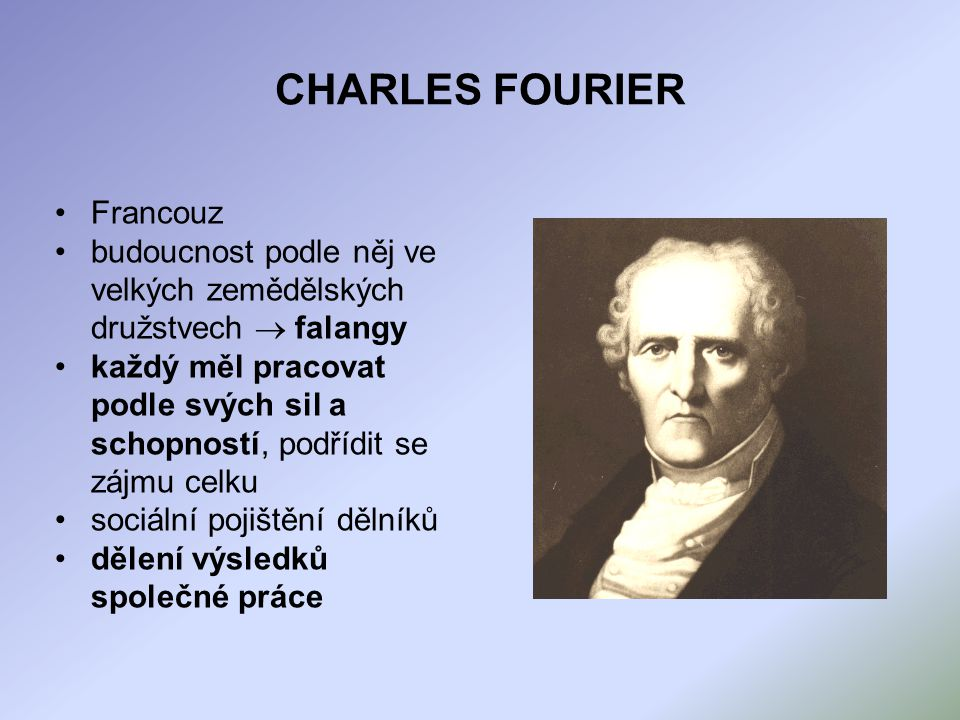 CHARLES FOURIER Francouz